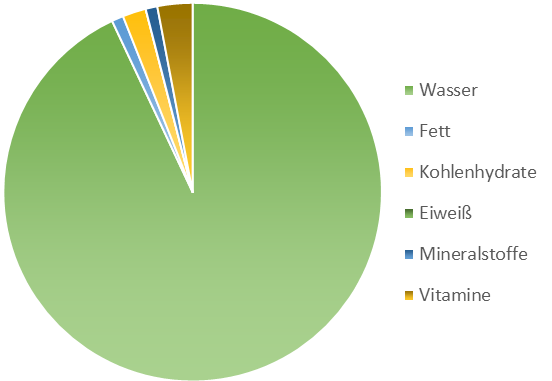 Mineralien und Vitamine Kressesprossen